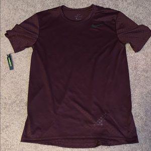 Men's Burgundy Small Nike DriFit Shirt